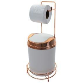Lixeira com suporte para papel higienico
